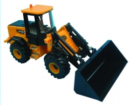 Britains 42511: JCB 416 Farmaster (with bucket & silage fork)