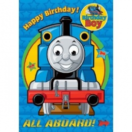 Thomas The Tank - Birthday Card with Badge Birthday Boy