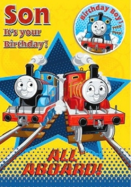 Thomas Birthday Card - Son