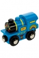 Bigjigs Wooden Railway - Blue ABC Engine