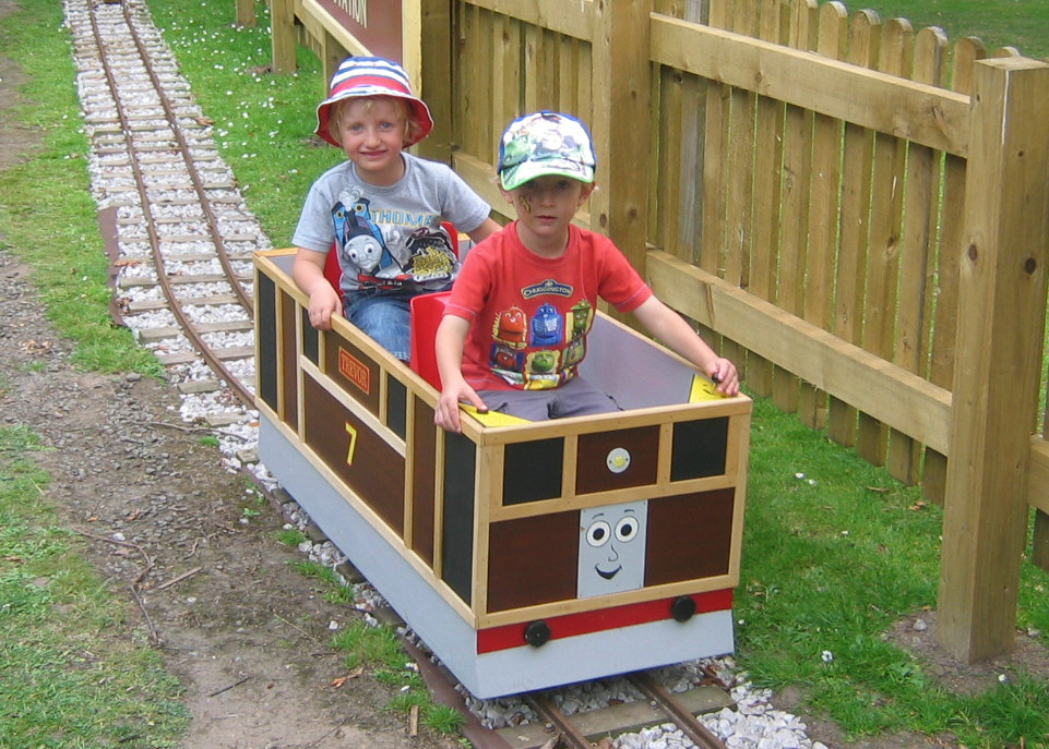 Andrew & Lewis enjoying the tram