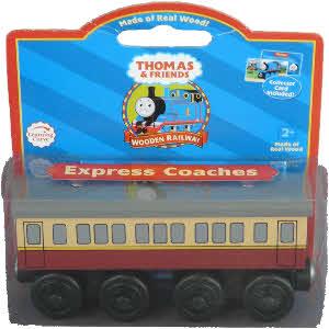 Wooden Railway Express Coaches Wagons