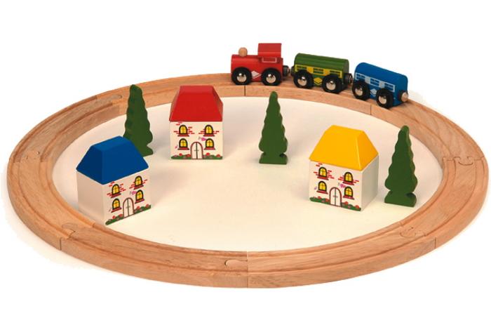 Bigjigs Wooden Railway - My First Train Set Bigjigs Train Sets R/BJT/MFT