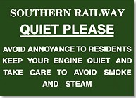 Replica Metal Sign Southern Railway No Noise